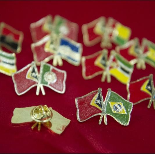 Pin Kuningan Bendera Negara